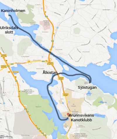 Karta till  Kaninholmen