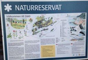 Karta Gålö naturreservat.