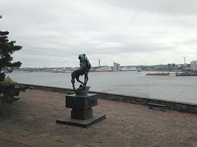 Staty på Millesgården