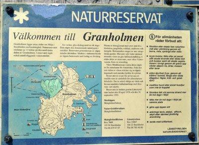 Karta Granholmen vid Möja