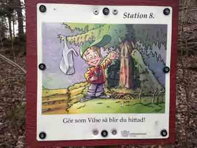 Station 8. Gör som Vilse så blir du hittad!