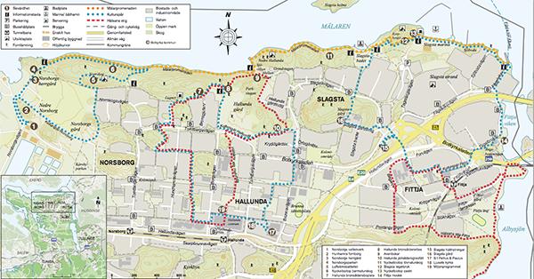 Mälarpromenaden karta och info från Botkyrka kommun.