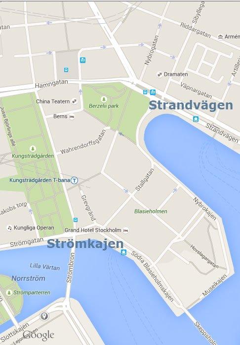 Karta strandvägen strömkajen