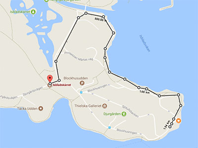 Blockhusudden karta promenad