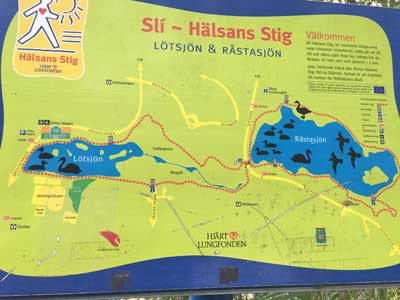 Hälsans stig Lotsjön Råstasjön 5 km