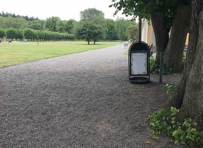 Ulriksdals slott trädgård.