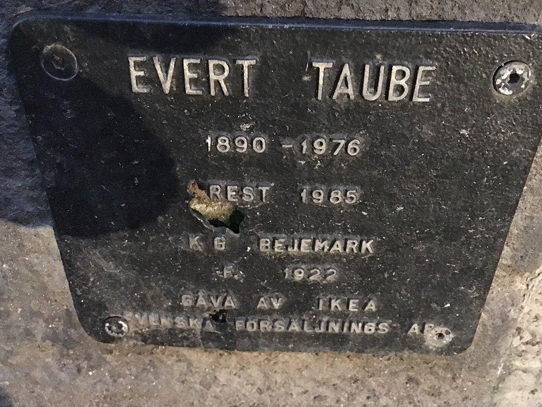 Evert Taube, K B Bejemark, Gamla stan, skylt