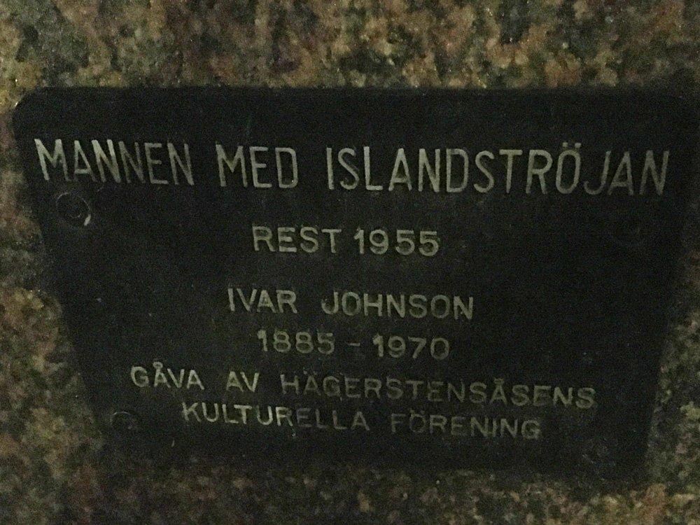 Mannen med Islandströjan, Ivar Johnson, Västertorp skylt