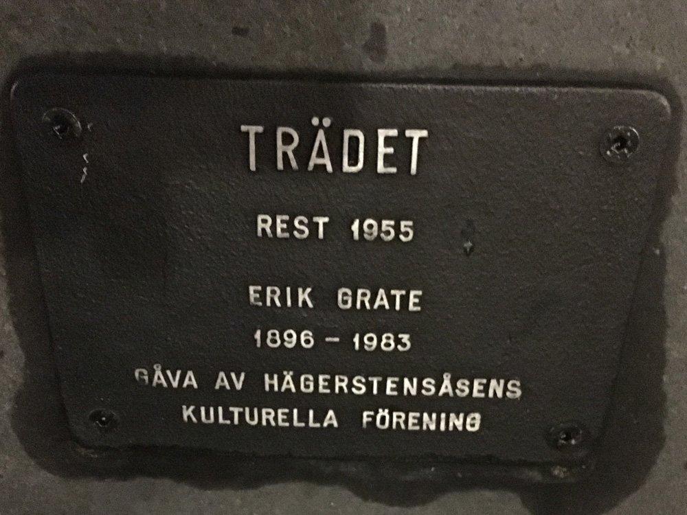 Trädet, Erik Grate, staty Västertorp