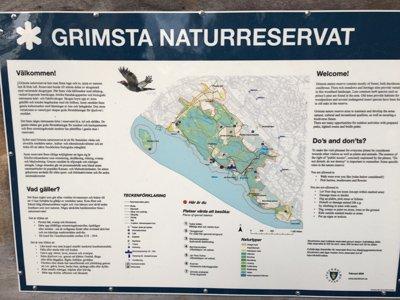 Grimsta naturreservat karta