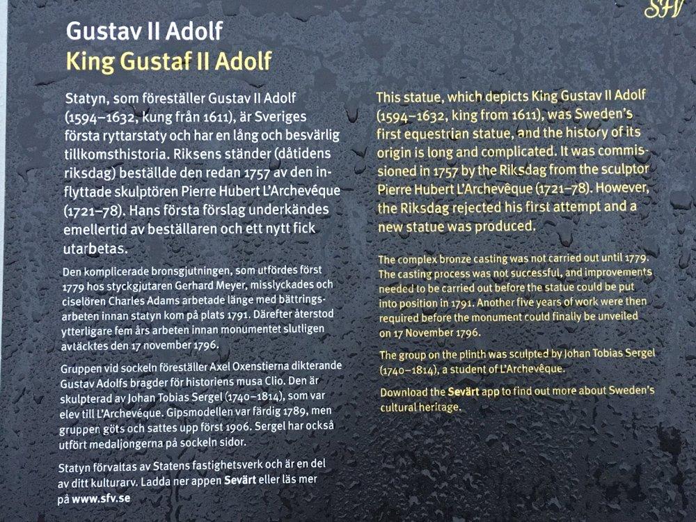 Gustav II Adolf, Gustav Adolfs torg, Stockholm