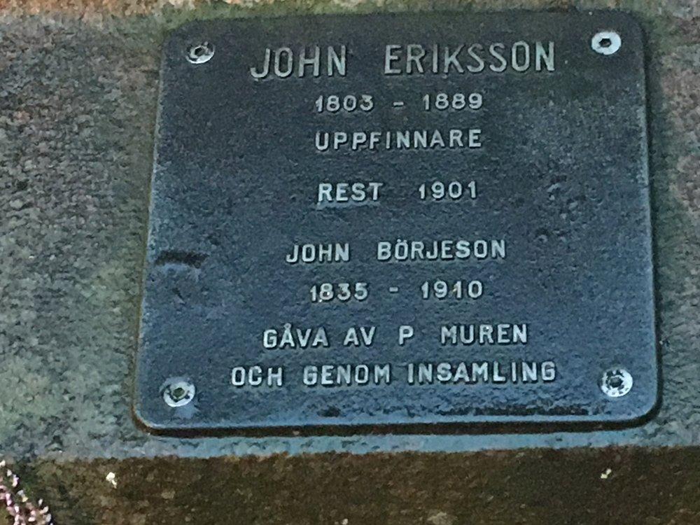 John Eriksson (1803-1889) Uppfinnare, John Börjeson, Berzeliusparken