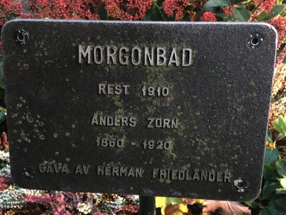 Morgonbad, Anders Zorn, Rosenbadsparken, Stockholm.