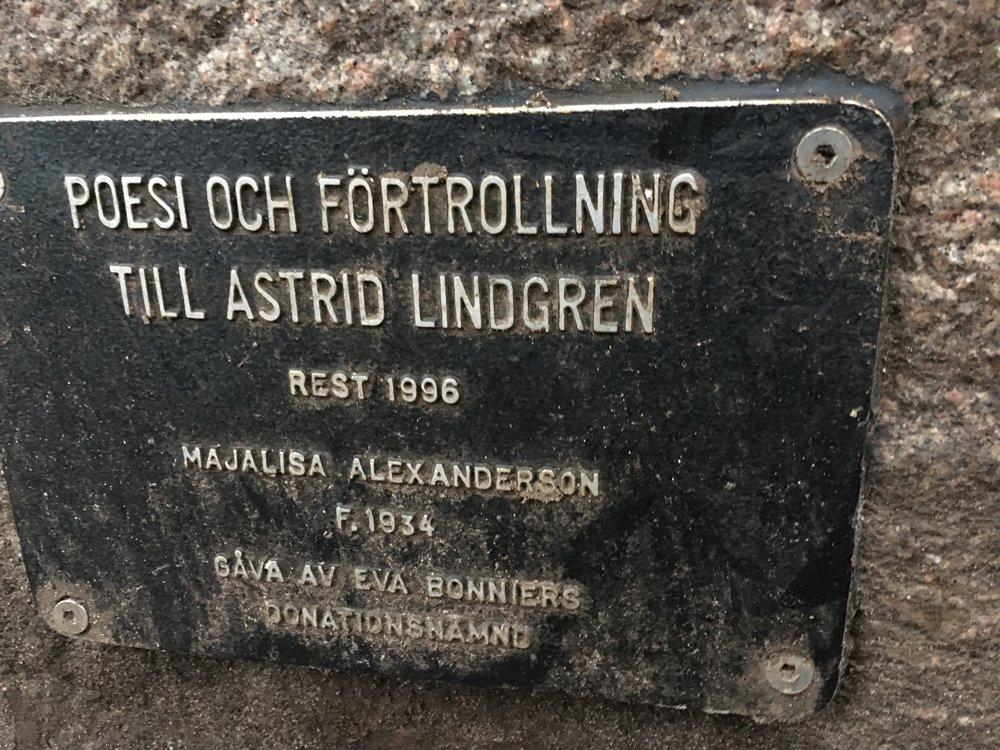 Poesi och förtrollning till Astrid Lindgren, Majalisa Alexanderson, Tegnérlunden
