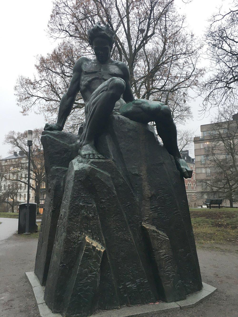 Strindbergsmonumentet, Carl Eldth, Tegnérlunden, Stockholm