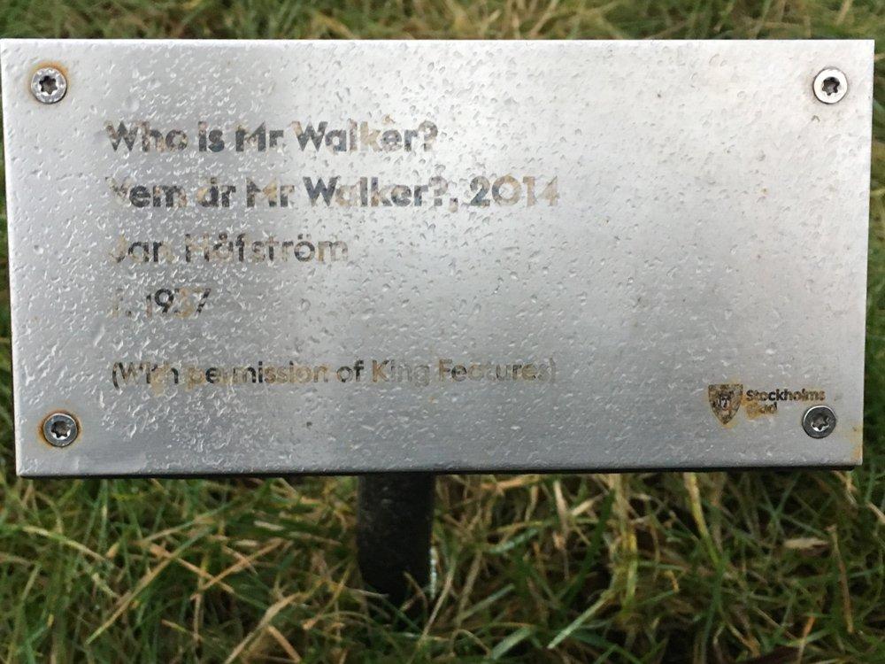 Who is Mr Walker?, Jan Håfström, Järnvägsparken