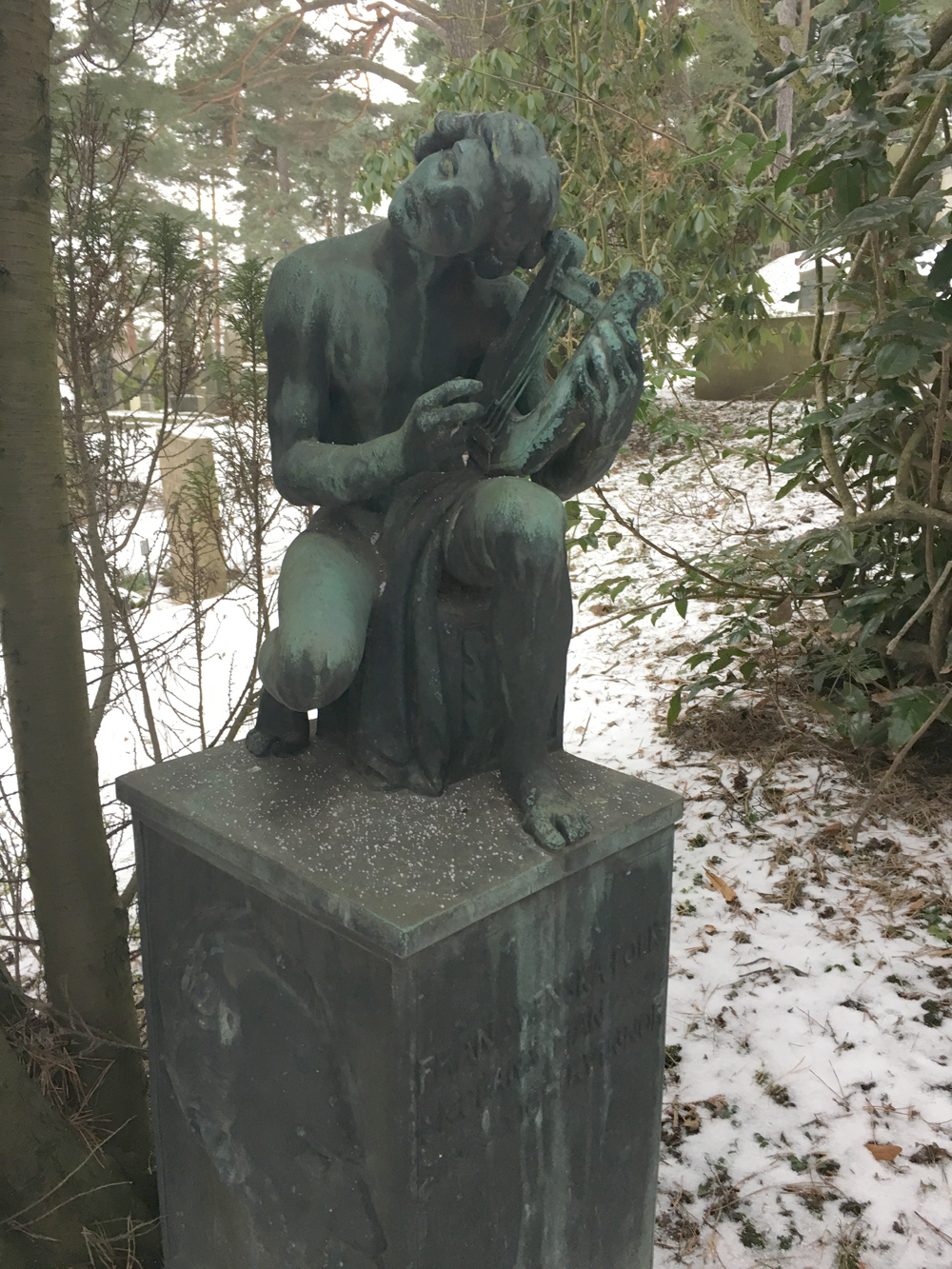 The River Spirit, Carl Eldh, skulptur Norra Begravningsplatsen