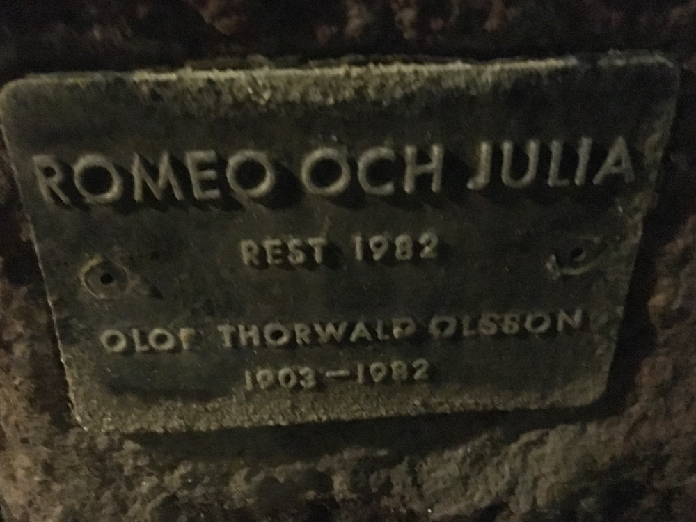 Romeo och Julia, Olof Thorwald Olsson, Vasaparken