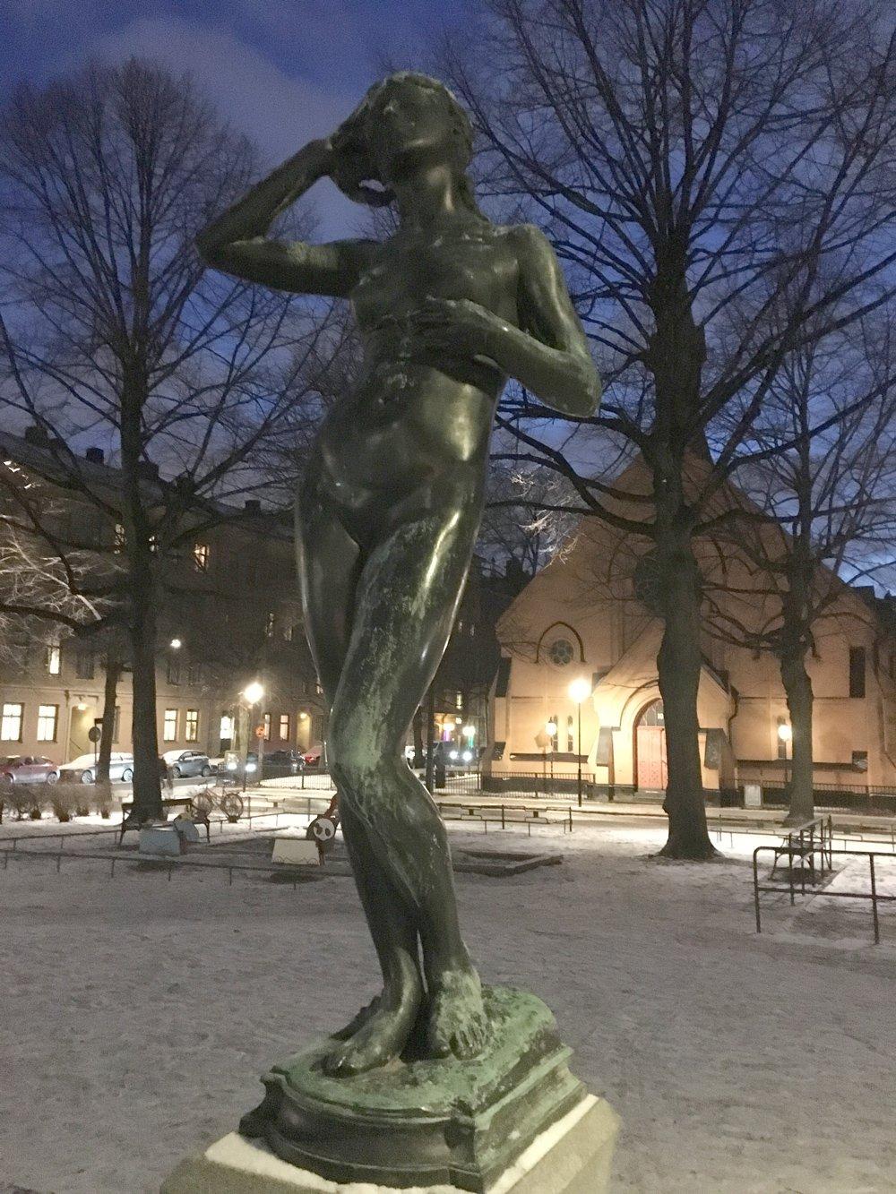 Snöklockan, Per Hasselberg, Mariatorget