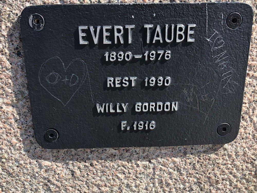 Evert Taube, Willy Gordon, Riddarholmen