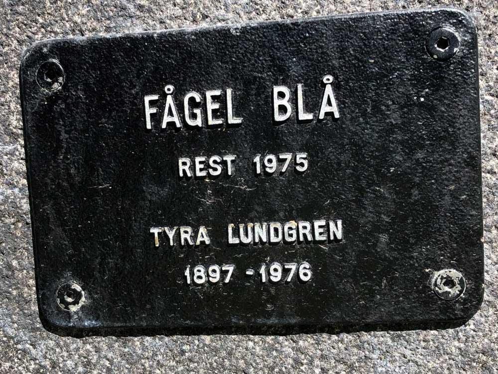 Fågel blå, Tyra Lundgren, Kungsholmen