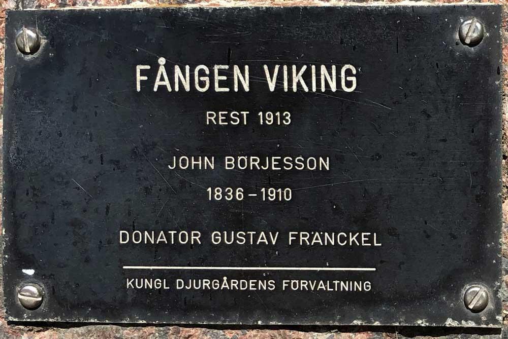 Fången Viking, John Börjesson, Djurgårdsvägen, Södra Djurgården