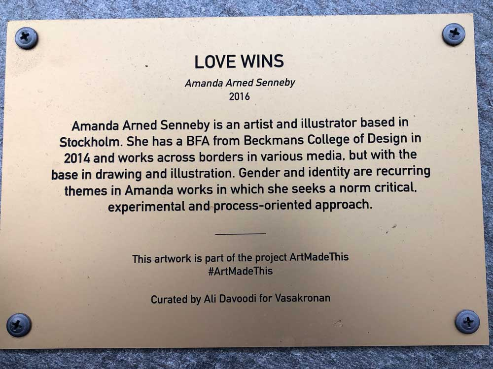 Love Wins, Amanda Arned Sennby, Fabriksgränd, Sundbyberg
