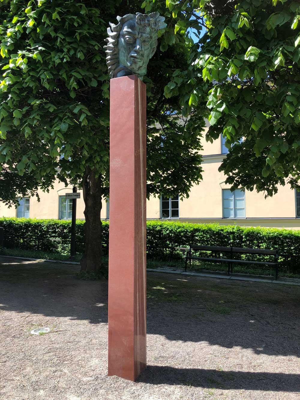 Orfeus-Huvud, Carl Milles, Grubbens trädgård, Kungsholmen