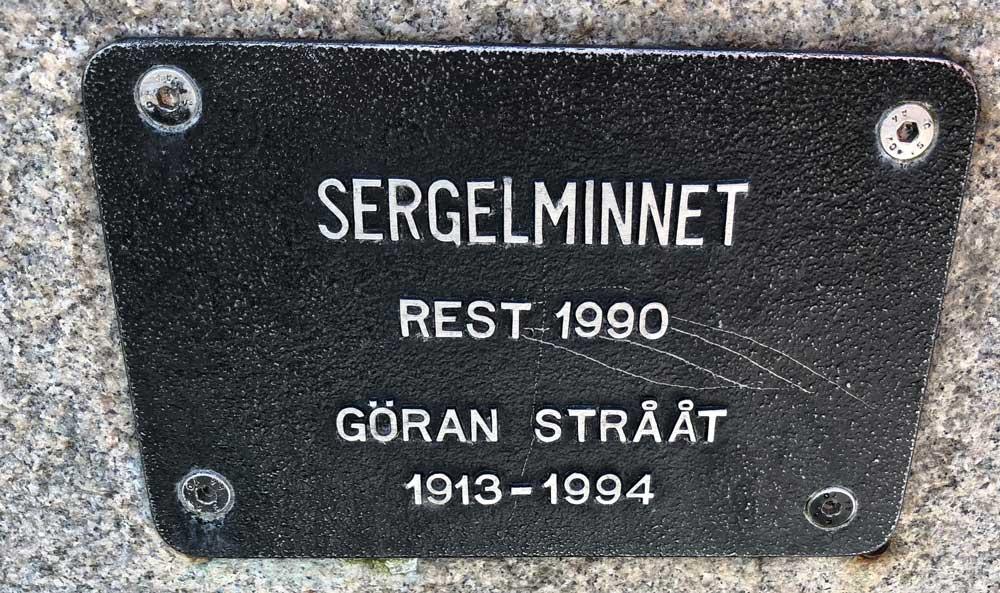 Sergelminnet, Göran Strååt, Sergelgatan, Norrmalm
