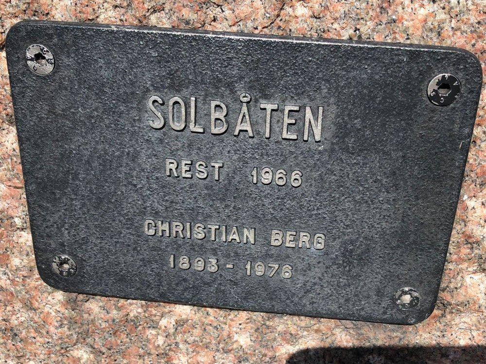 Solbåten, Christian Berg, Riddarholmen