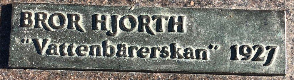 Vattenbärerskan, Bror Hjorth, Råsunda torg, Solna