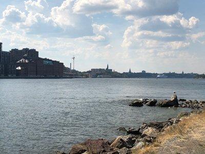 Blandning av hav och stad