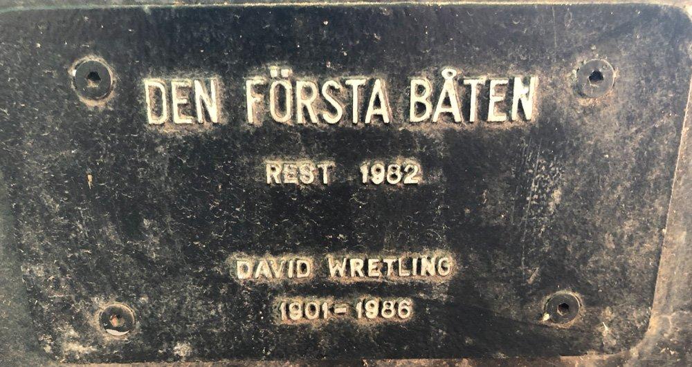 Den första båten, David Wretling, Nobelparken, Djurgården