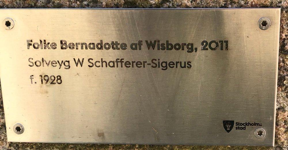 Folke Bernadotte af Wisborg, Solveyg W Schafferer-Sigerus, Djurgården