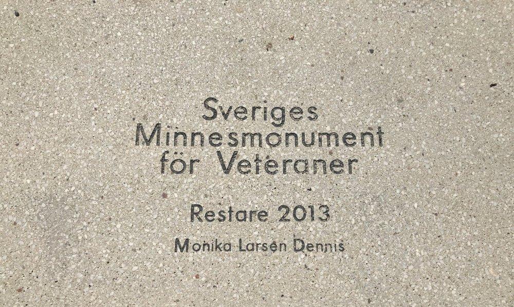 Sveriges Minnesmonument för Veteraner, Monika Larsen Dennis, Sjöhistoriska museet