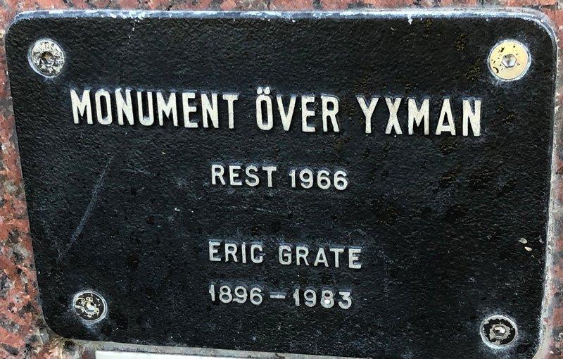 Monument över Yxman, Eric Grate, Rålamshovsparken