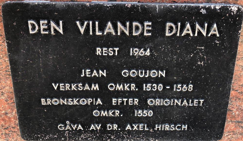 Den Vilande Diana, Jean Goujon, Djurgården
