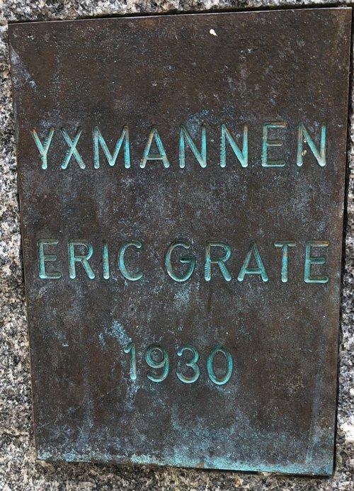 Yxmannen, Eric Grate, Blockhusudden