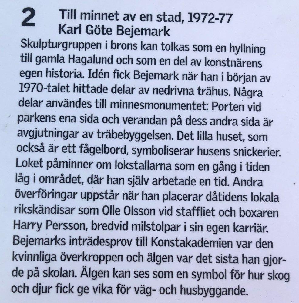 Till minnet av en stad, Karl Göte Bejemark, Solna