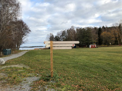 Stora Gålöslingan går förbiGålö havsbads camping.