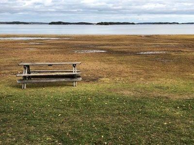 Stora Gålöslingan vackert bad vid Gålö havsbads camping.