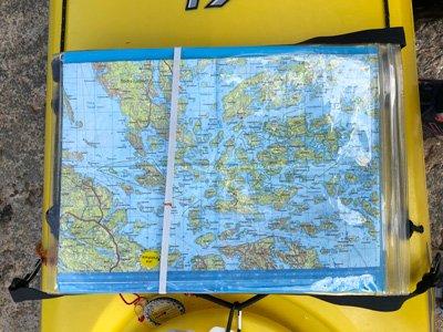 Life-hack kajak och karta