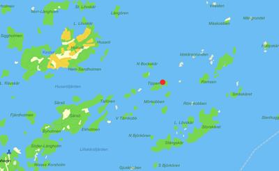 Karta till tältplats på Tippen.