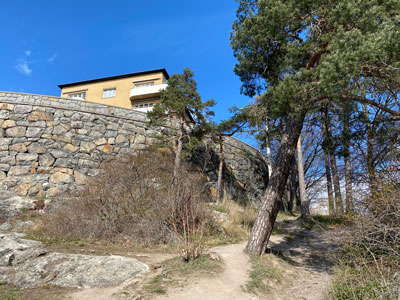 Hus vid Fredhäll