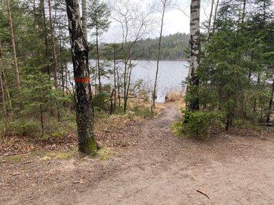 Strålsjön på Sörmlandsleden.