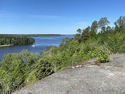 Utsikt från Runsa borg till sigtuna