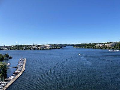 Utsikt från Tranebergsbron