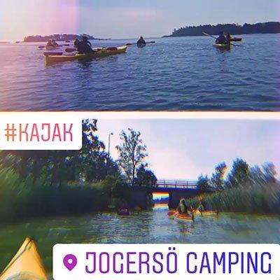Kajak vid Jogersö camping