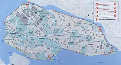 Karta över Kungsholmen Runt, 9 km