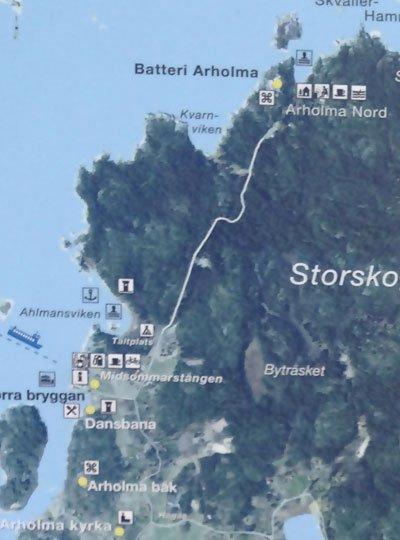 Karta över Arholma Nord